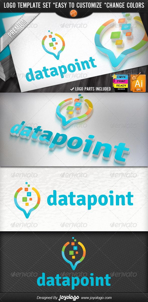 GraphicRiver Pixel Circuits Digital Pointer Data Finder Logo 4581769