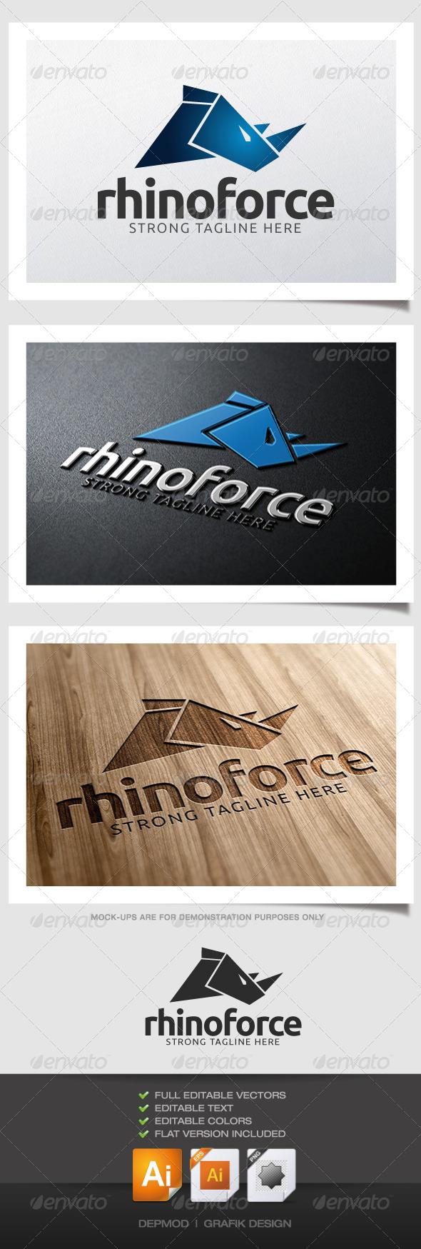 GraphicRiver Rhinoforce Logo 4593152