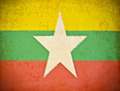old grunge paper with Myanmar flag background - PhotoDune Item for Sale