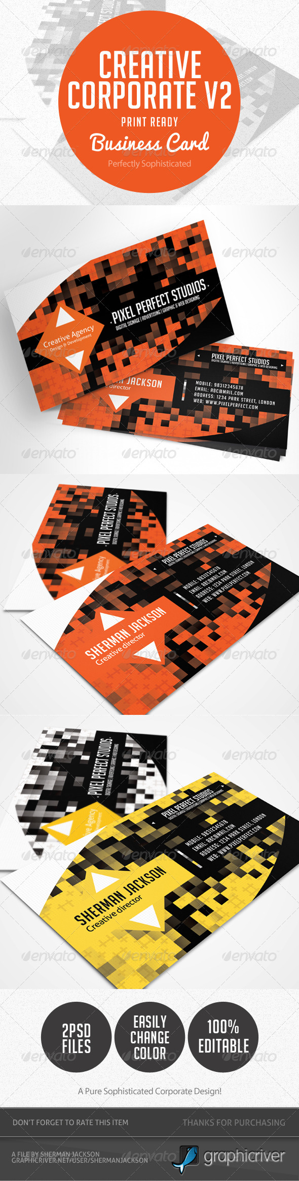 GraphicRiver Creative Corporate Business Card V.2 4594260