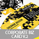 Creative Corporate Business Card V.2 - GraphicRiver Item for Sale