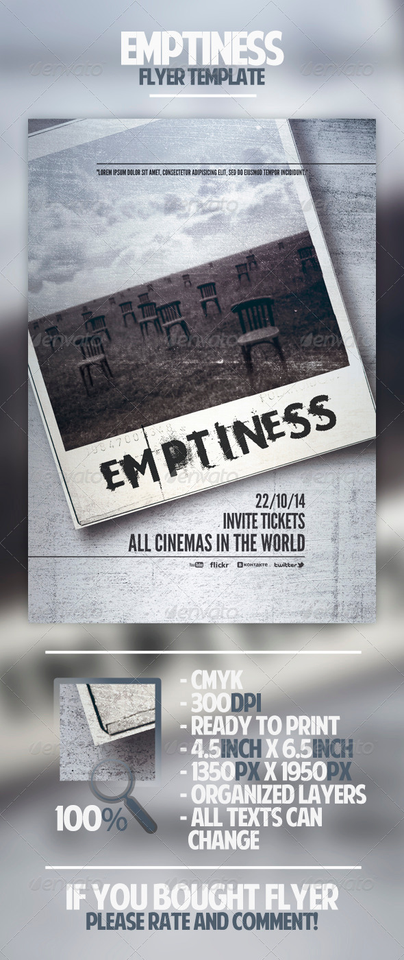 GraphicRiver Emptiness Flyer Template 4481843