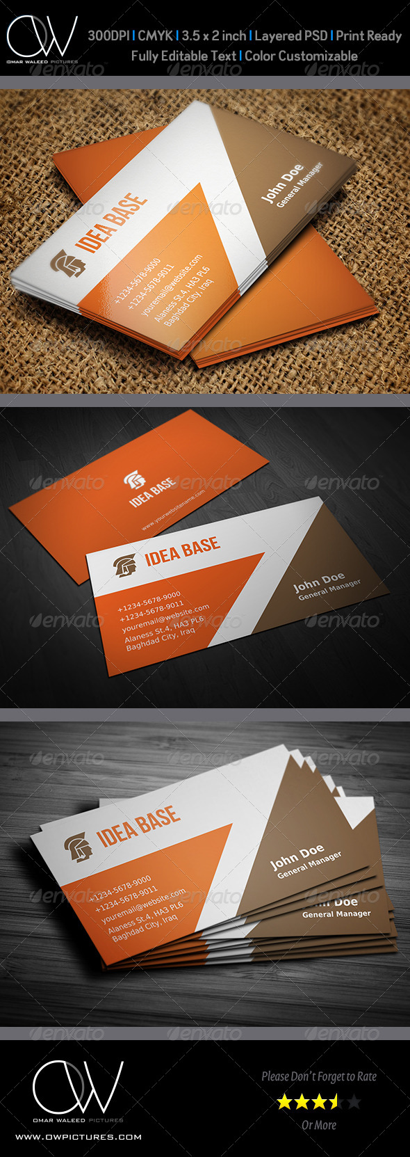 GraphicRiver Corporate Business Card Vol.21 4594446