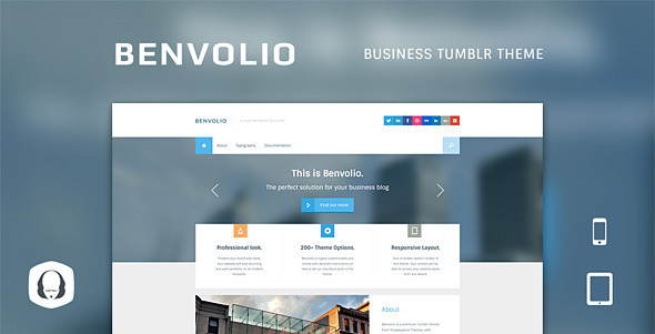 ThemeForest Benvolio A Business Tumblr Theme 4594479