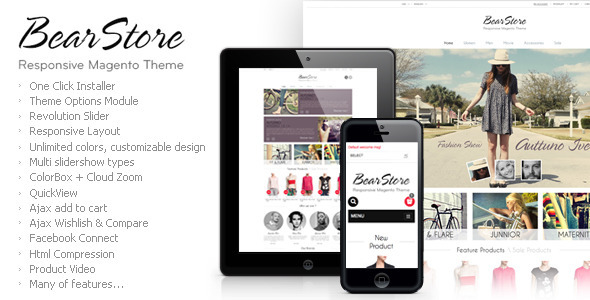 ThemeForest BearStore Responsive Magento Theme 4581083