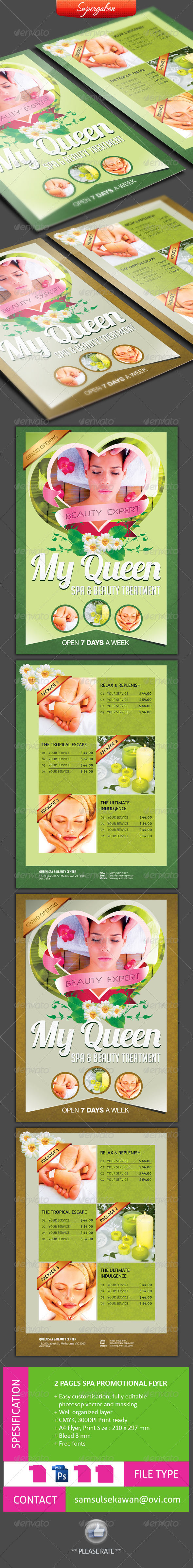 GraphicRiver 2 PAGES SPA PROMOTIONAL FLYER 4594566