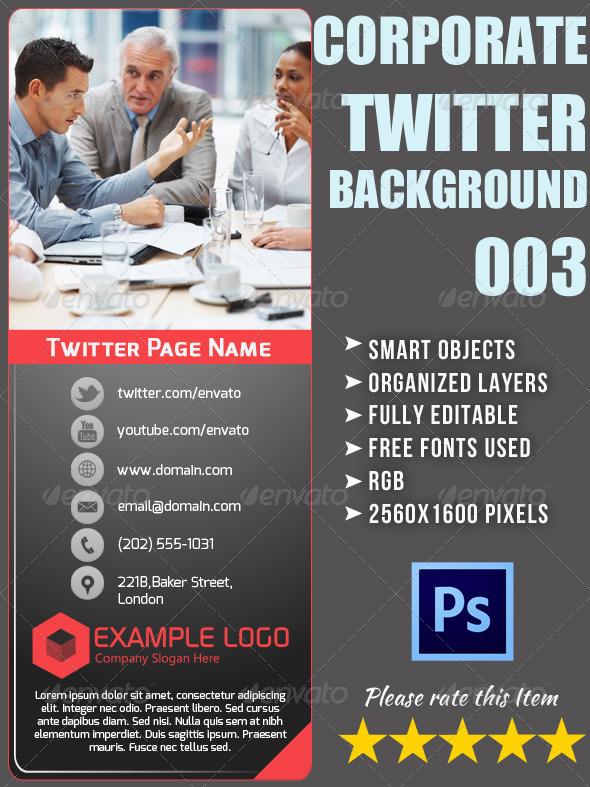 Corporate Twitter Background 03 - Twitter Social Media
