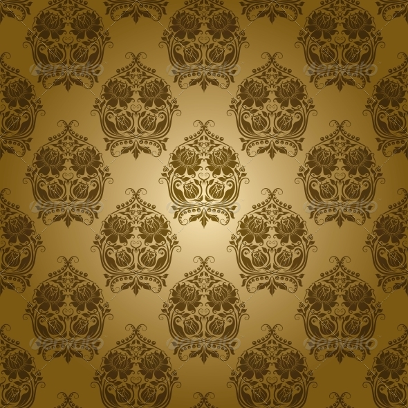 GraphicRiver Damask Seamless Floral Pattern 4594662