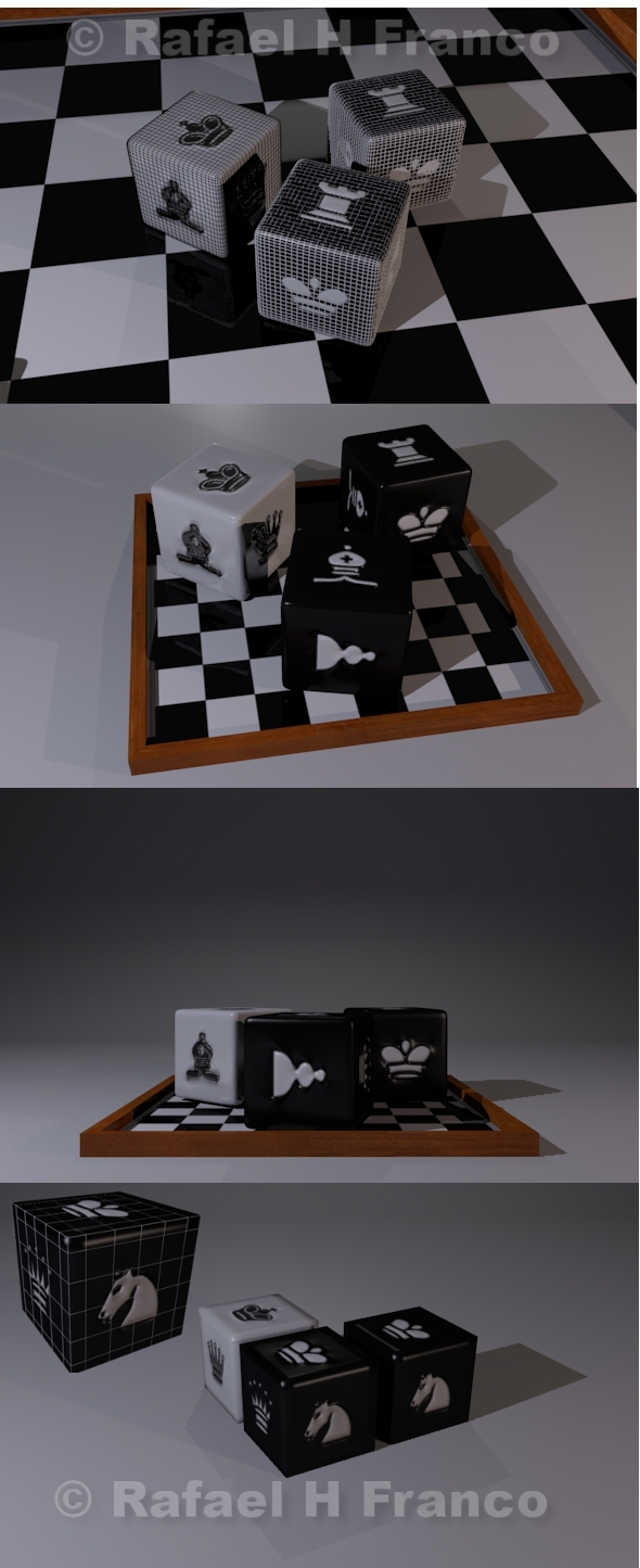 3DOcean Dice Chess theme 4594664