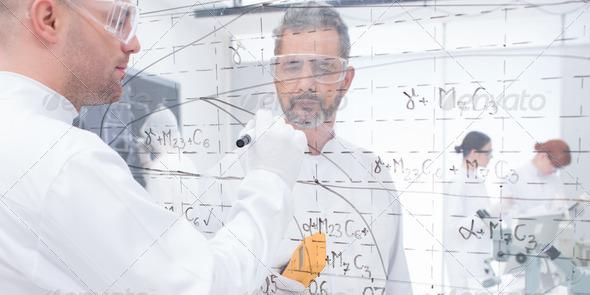laboratory formulas analysis - Stock Photo - Images
