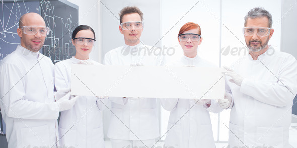 confident scientists in lab - Stock Photo - Images