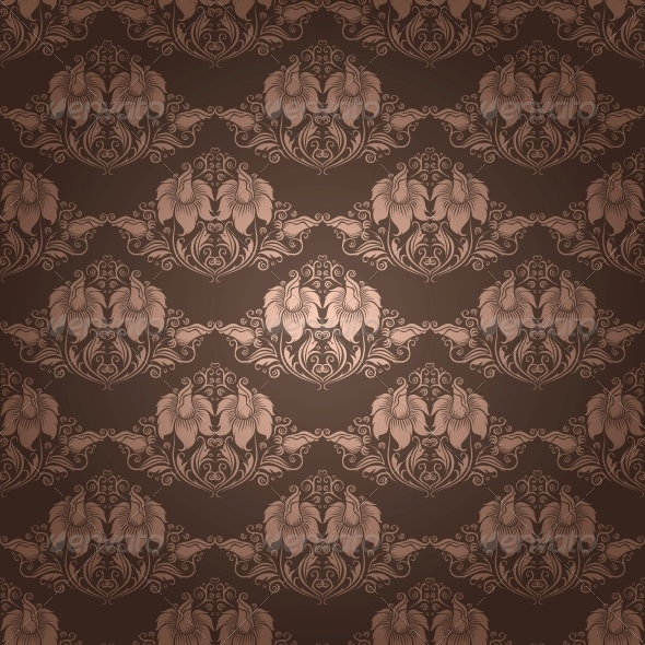 GraphicRiver Damask Seamless Floral Pattern 4594681