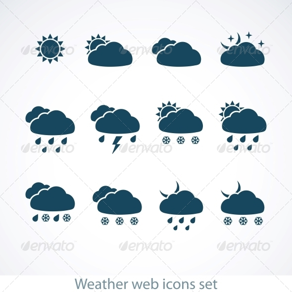 GraphicRiver Weather Icons Set 4594705