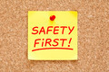 Safety First Sticky Note - PhotoDune Item for Sale