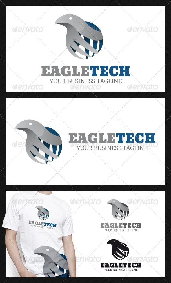 GraphicRiver Eagle Tech Logo Template 4594792