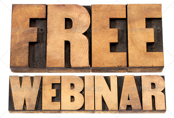 free webinar in wood type - Stock Photo - Images