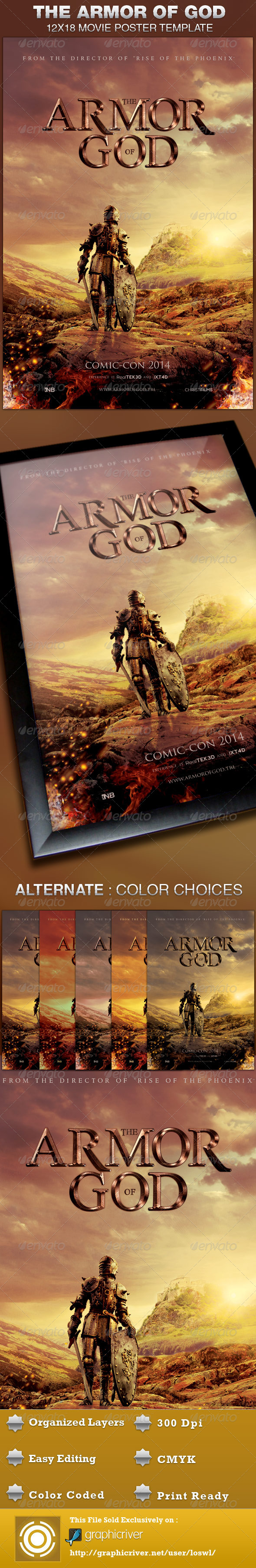 GraphicRiver Armor of God Movie Poster Template 4594947