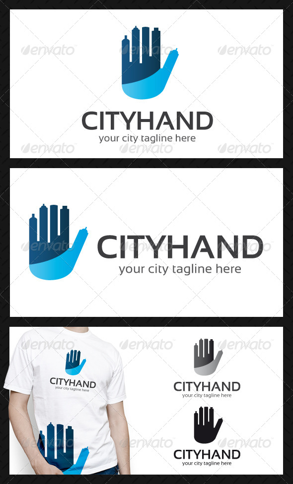 GraphicRiver City Hand Logo Template 4595396
