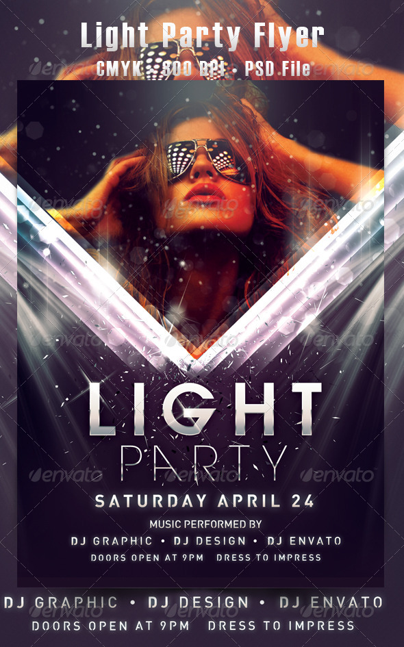 Light Party - Events Flyers