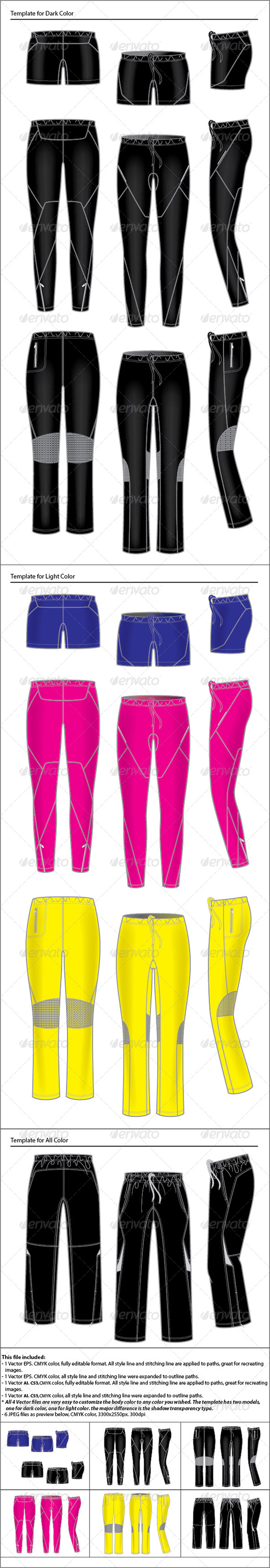 GraphicRiver Womens Active Wear Template Pants 4595631