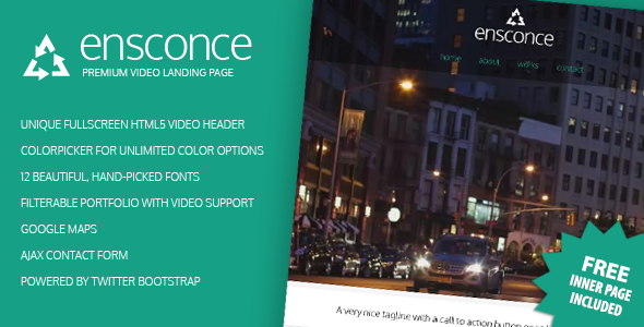 ThemeForest Ensconce Premium Video Landing Page 4595683