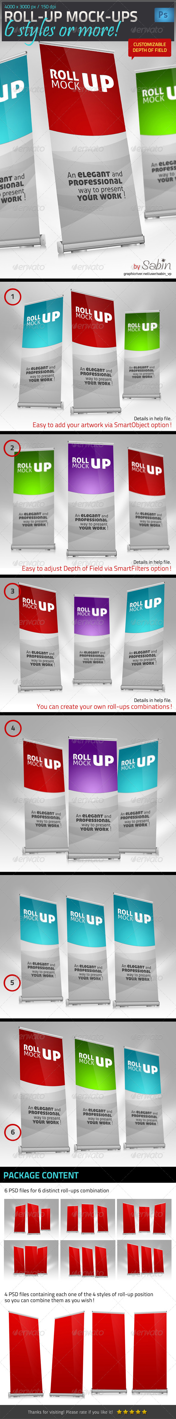 GraphicRiver Roll-up Banner Mock-up 4515192