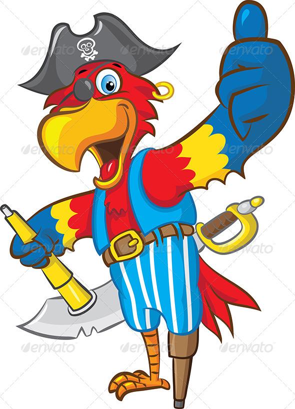 GraphicRiver Pirate Parrot Mascot 4595728
