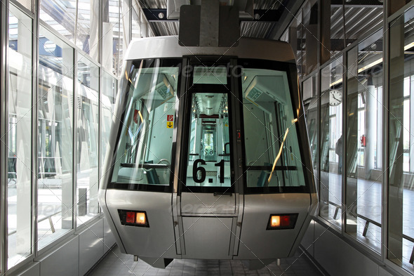 Silver skytrain - Stock Photo - Images