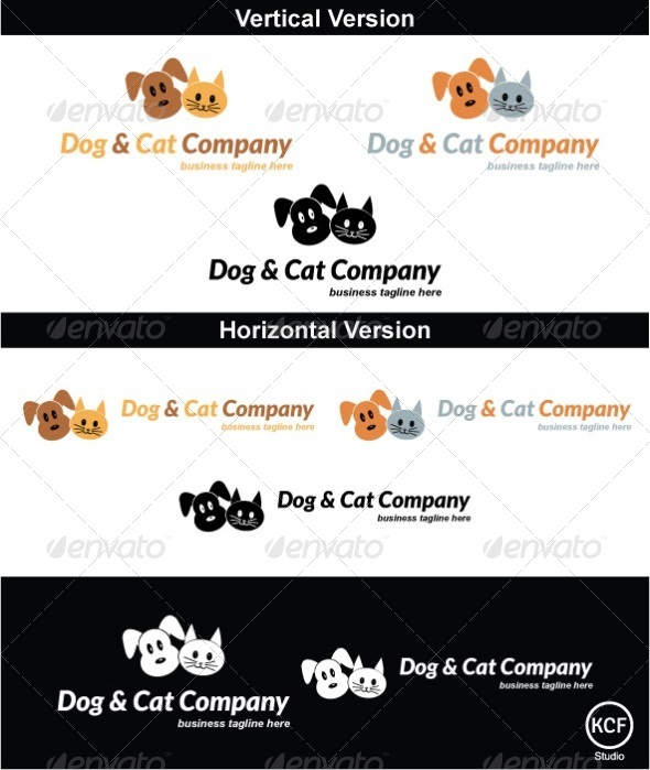 GraphicRiver Cats and Dogs Logo Design 4514928