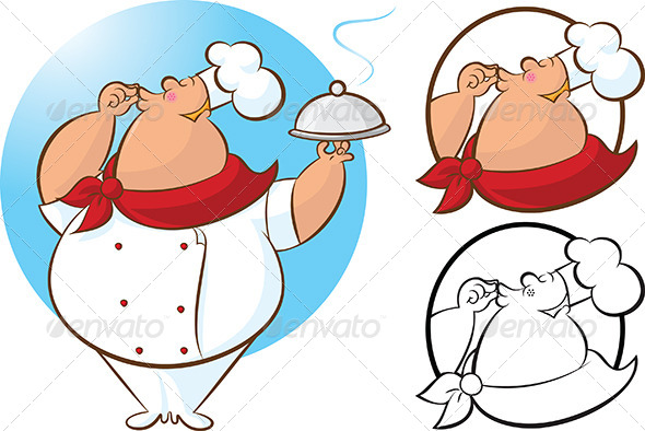 GraphicRiver Chef Magnifico Mascot 4595883