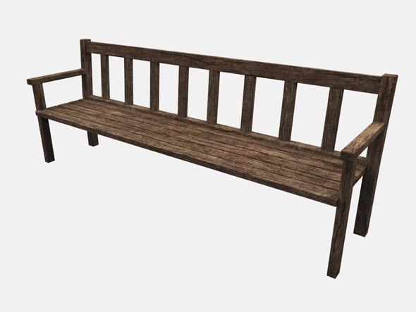 3DOcean Wooden Bench 4596123