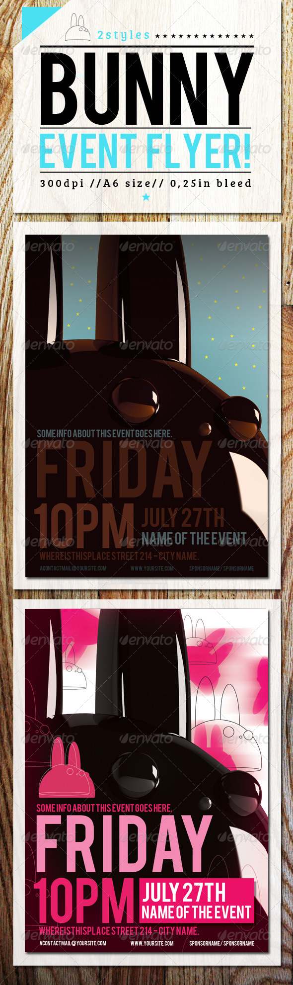 GraphicRiver Flyer Template with Bunny 4596381