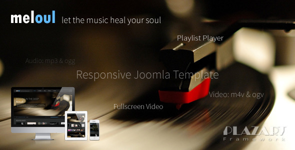 ThemeForest Meloul Music Responsive Joomla Template 4584989