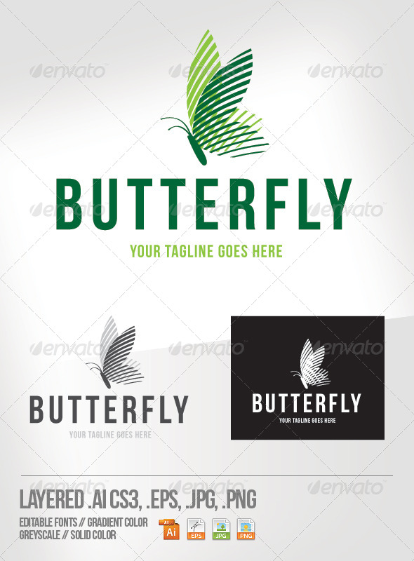 GraphicRiver Butterfly Logo Template 4586347