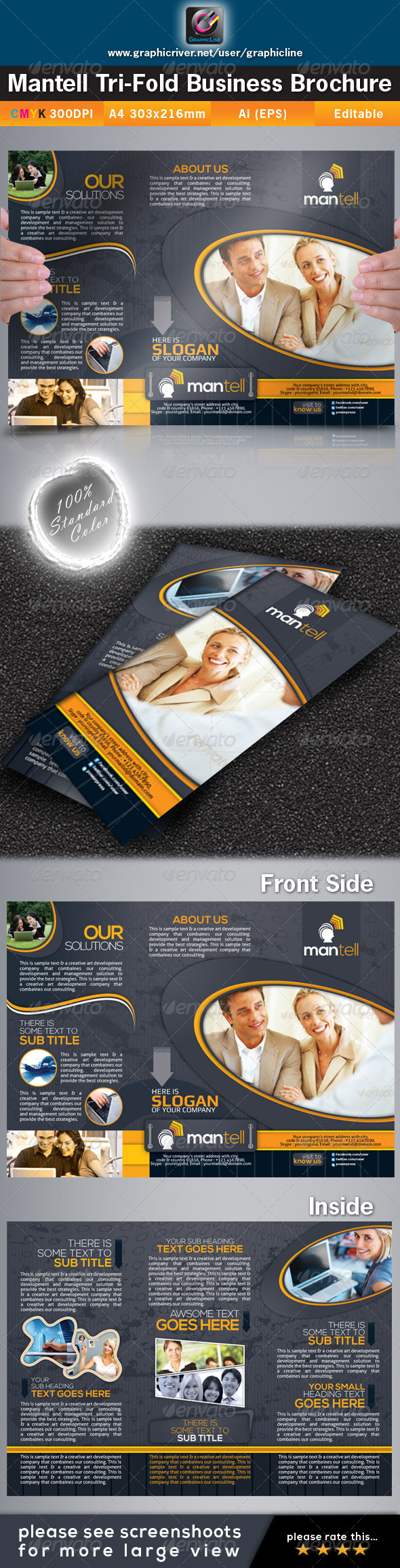 GraphicRiver Mantell Tri-fold Corporate Business Brochure 4462847
