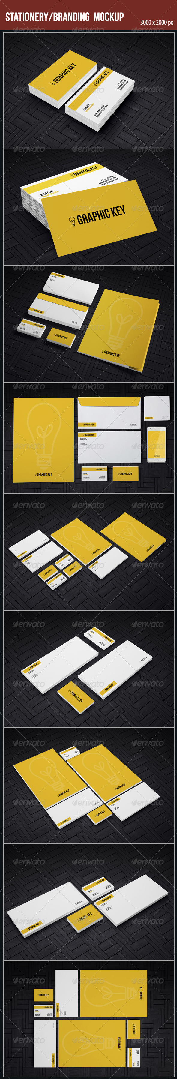 GraphicRiver Staionery Branding Mockup 4596899
