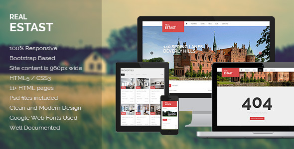 ThemeForest RealEstast Real Estate HTML Template 4580367
