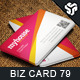 Business Card Design 79 - GraphicRiver Item for Sale