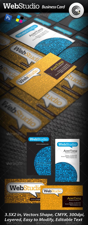 GraphicRiver Web Studio Business Card 480995