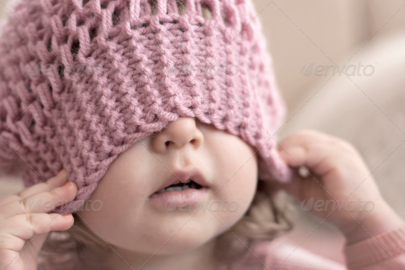 Stock Photo - PhotoDune Baby hiding 519586