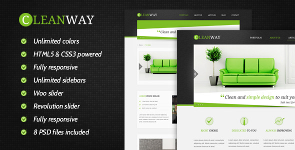 ThemeForest Cleanway Responsive Multi-Purpose Theme 4579854