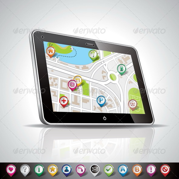 GraphicRiver Shiny PDA Device and Pointer Set 4597905