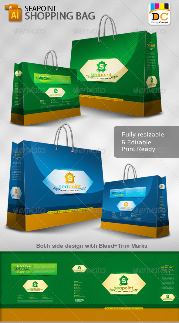 GraphicRiver Sea Point Shopping Bag Packaging 4597925