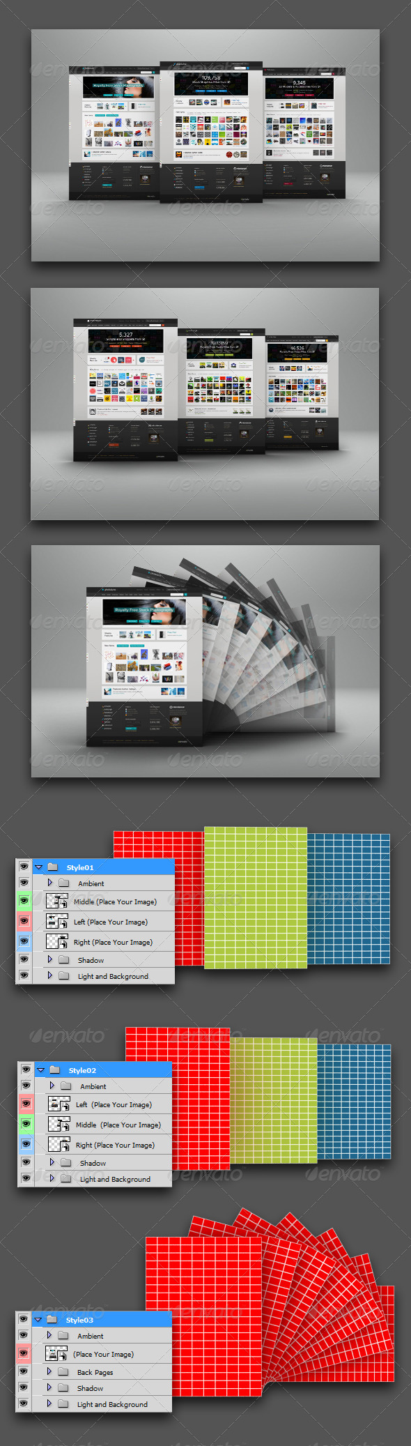 GraphicRiver Web Page Display Mockup 4598076