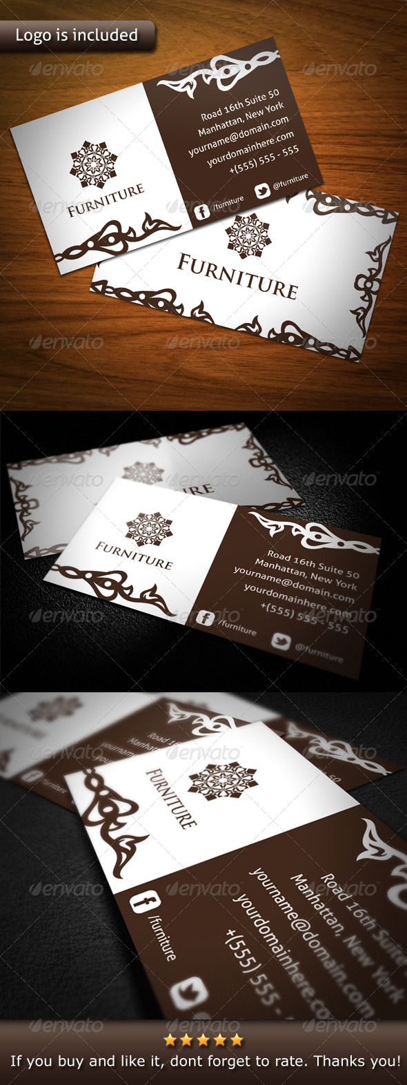 GraphicRiver Furniture Brand Business Card 4598082