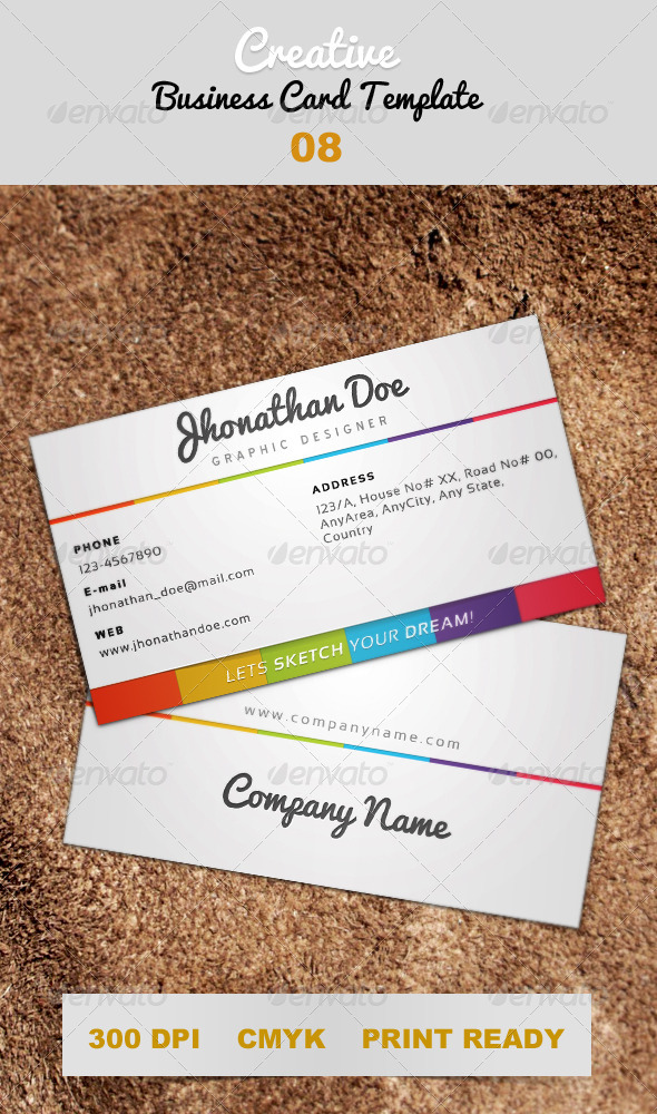 GraphicRiver Creative White Business Card Template 08 4313863