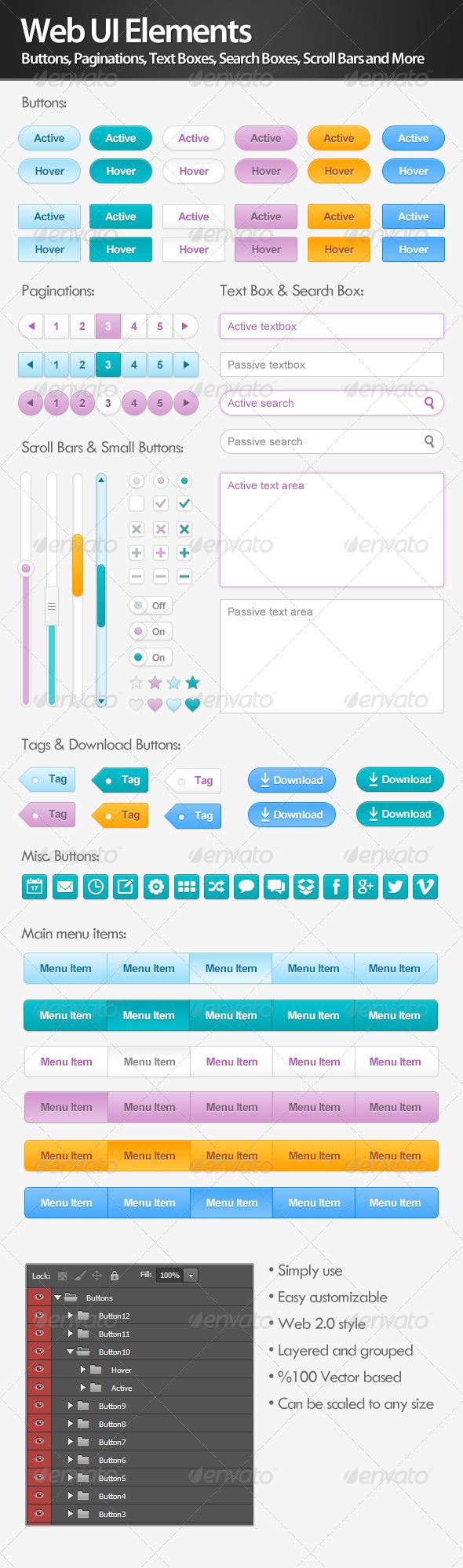 GraphicRiver Web UI Elements 4598820