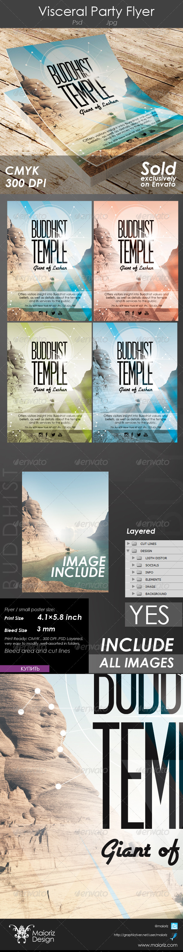 GraphicRiver Buddhist Temple Flyer 4598974