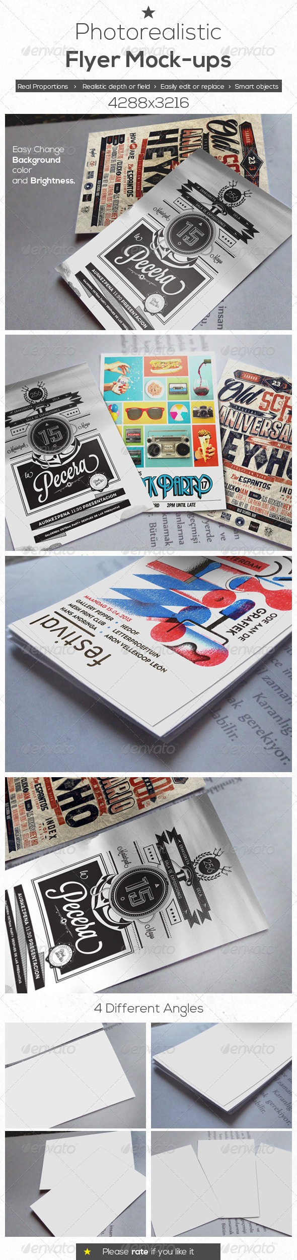 GraphicRiver Photo Realistic Flyer Mock-Ups 4599121