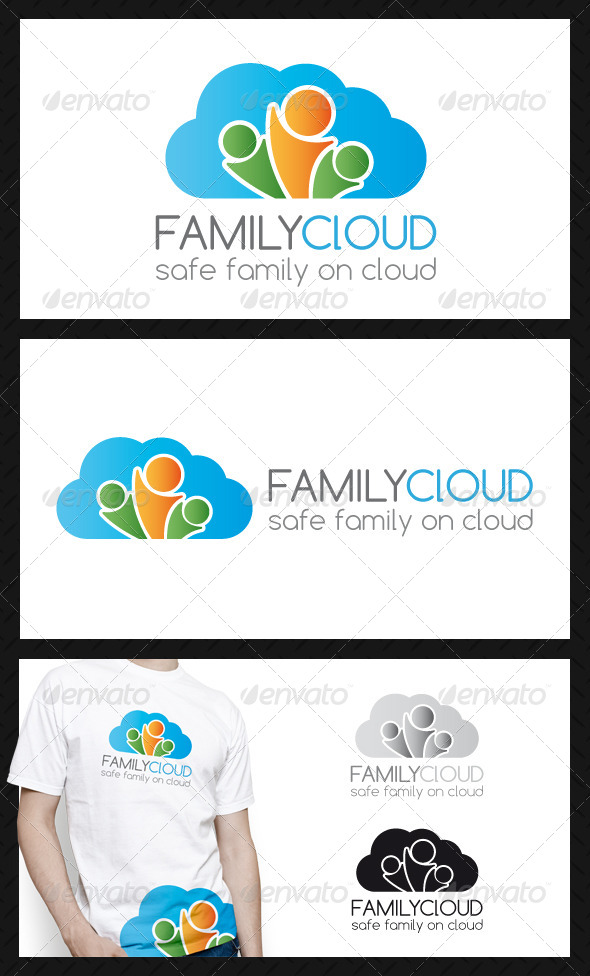 Family Cloud Logo Template